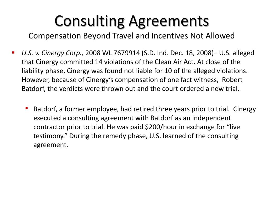 PPT - To Pay or Not to Pay? Compensation of Fact Witnesses