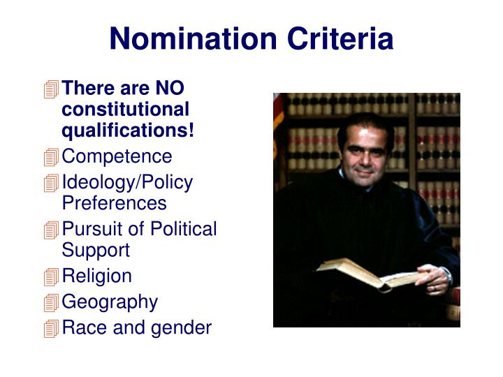 Nomination Criteria
