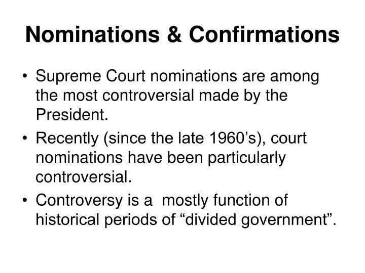 Nominations & Confirmations