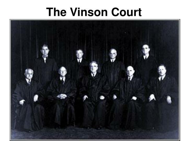 The Vinson Court