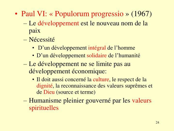 Paul VI: «Populorum progressio