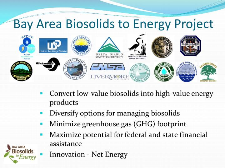 Bay Area Biosolids to Energy Project