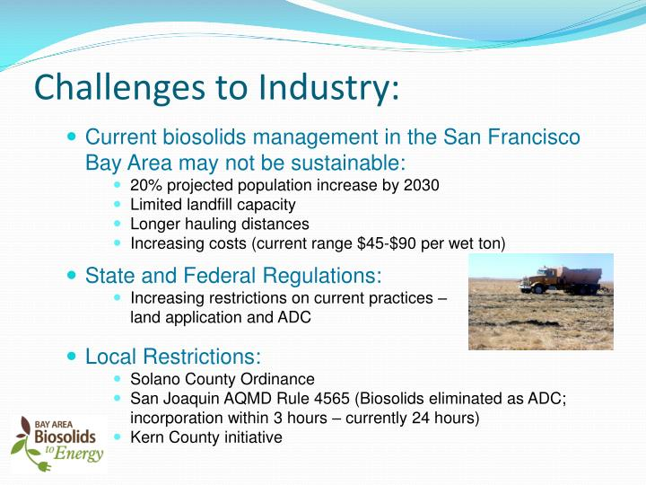 Challenges to Industry: