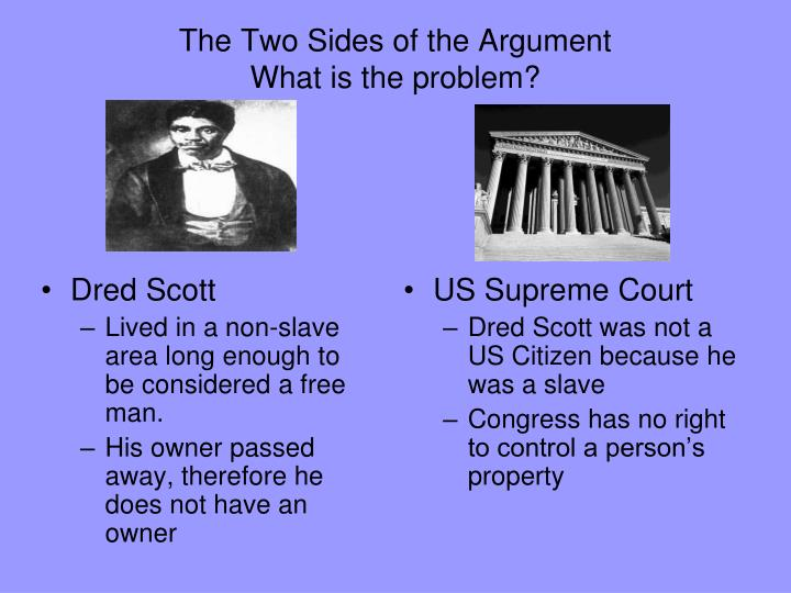 an analysis of the dred scott decision The dred scott decision dred scott was the name of an african-american slave he was taken by his master, an officer in the us army, from the slave state of missouri to the free state of illinois and then to the free territory of wisconsin.