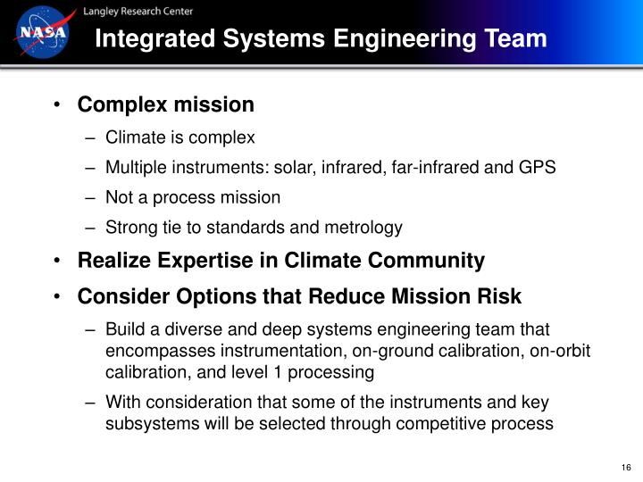 Integrated Systems Engineering Team