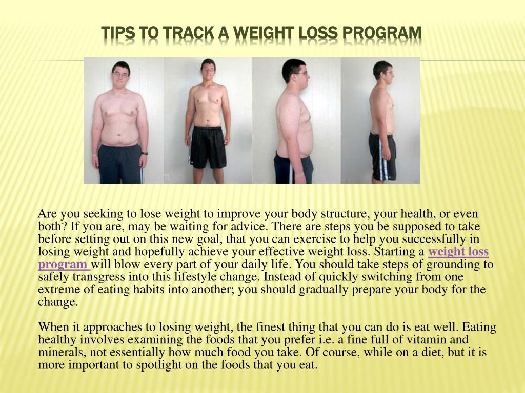 tips to track a weight loss program l.