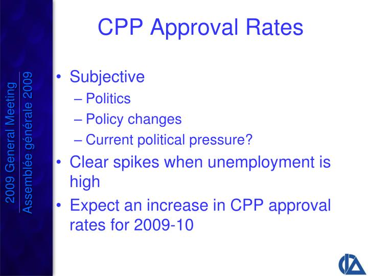 CPP Approval Rates
