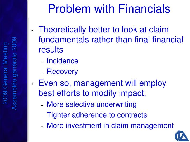 Problem with Financials
