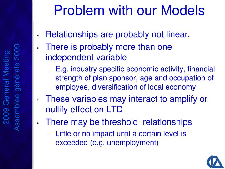 Problem with our Models