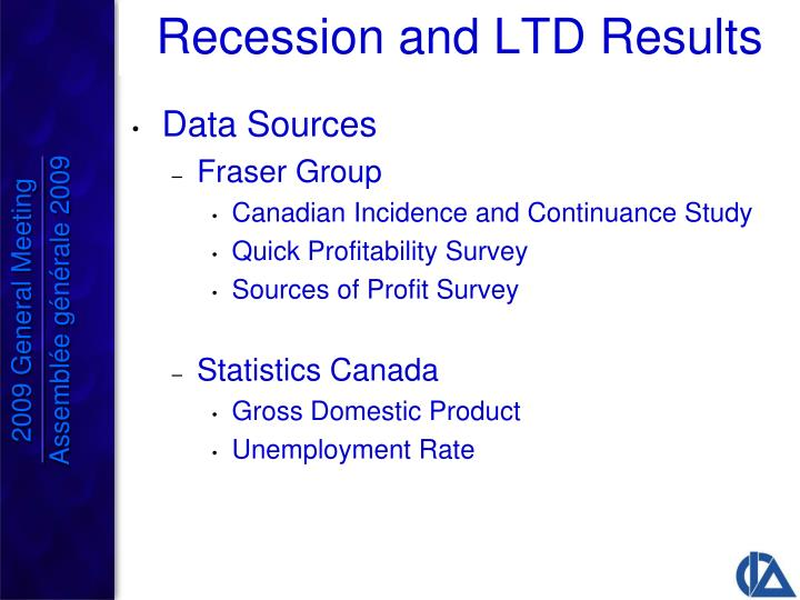 Recession and LTD Results