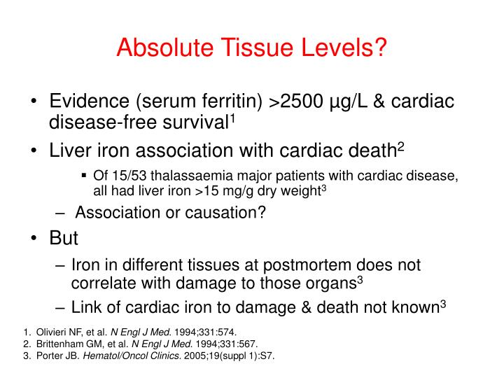 Absolute Tissue Levels?