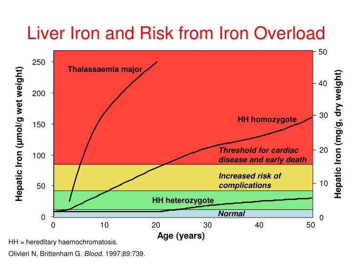 Liver Iron and Risk from Iron Overload