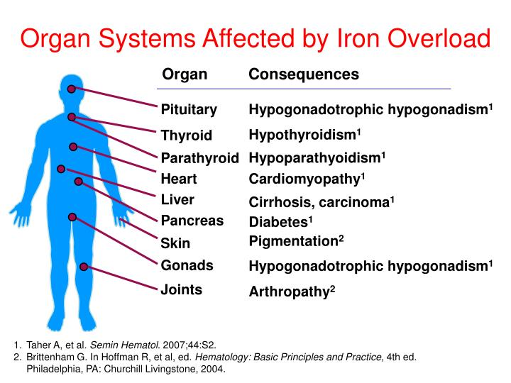 Organ Systems Affected by Iron Overload
