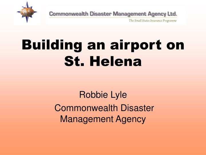 building an airport on st helena n.