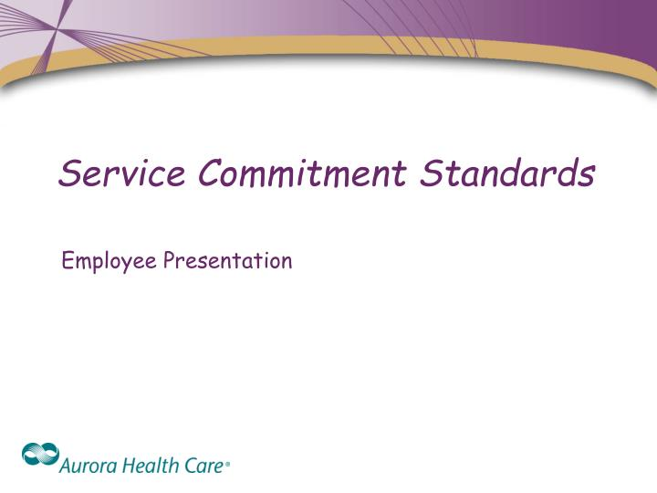 service commitment standards n.