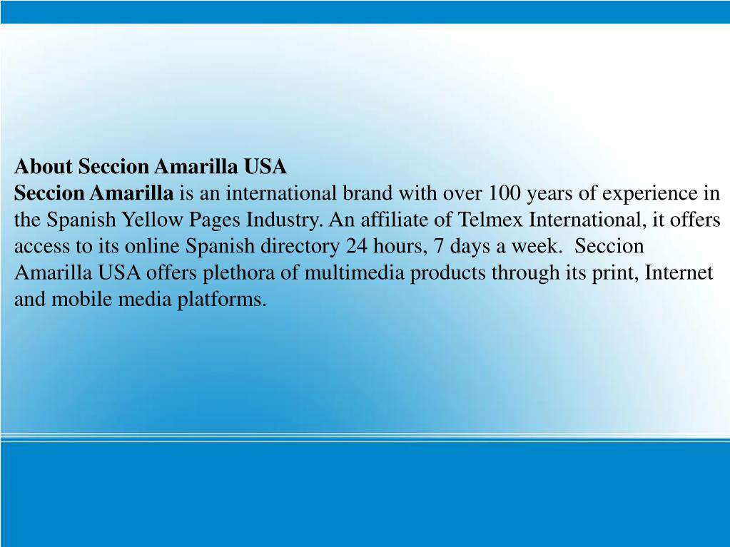 About Seccion Amarilla USA