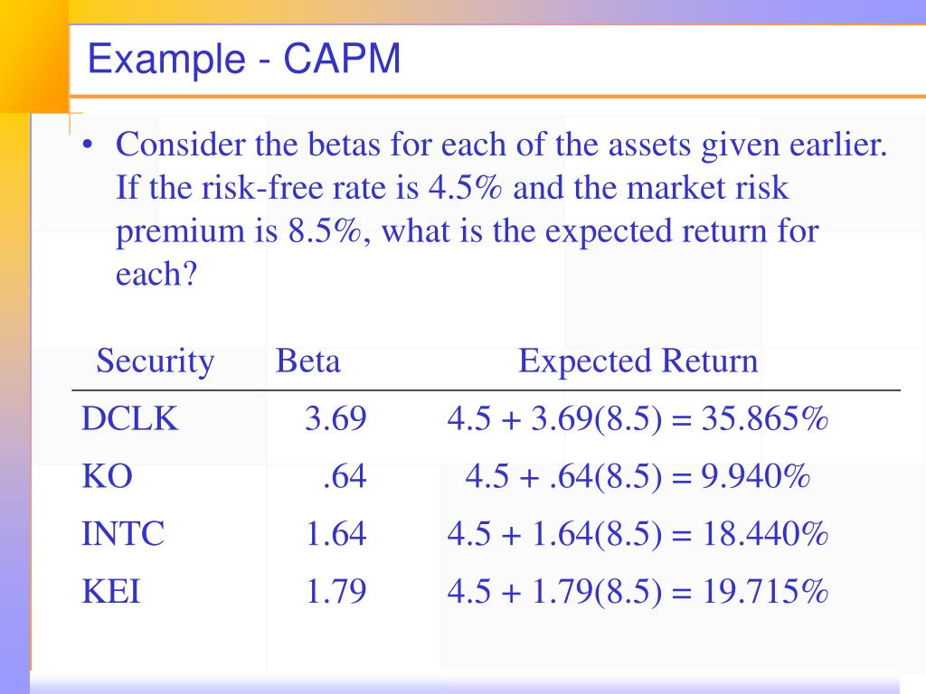 PPT   Return, Risk, and the Security Market Line PowerPoint ...