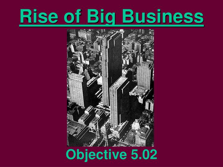 rise of big business n.