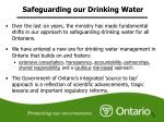 safeguarding our drinking water