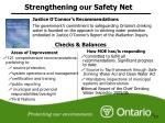 strengthening our safety net