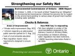 strengthening our safety net3