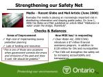 strengthening our safety net4