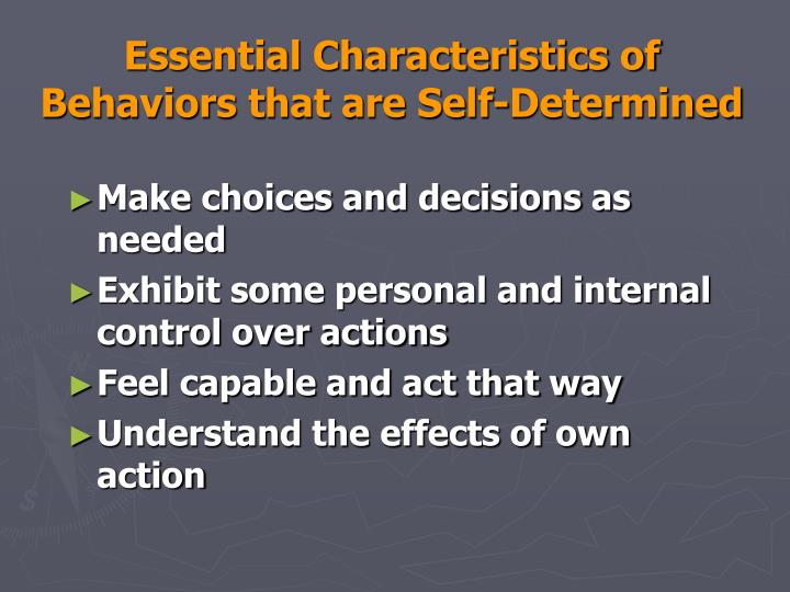 Essential Characteristics of