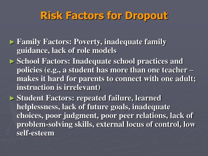 Risk Factors for Dropout