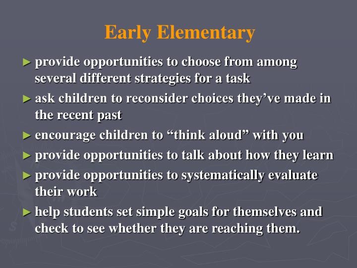 Early Elementary