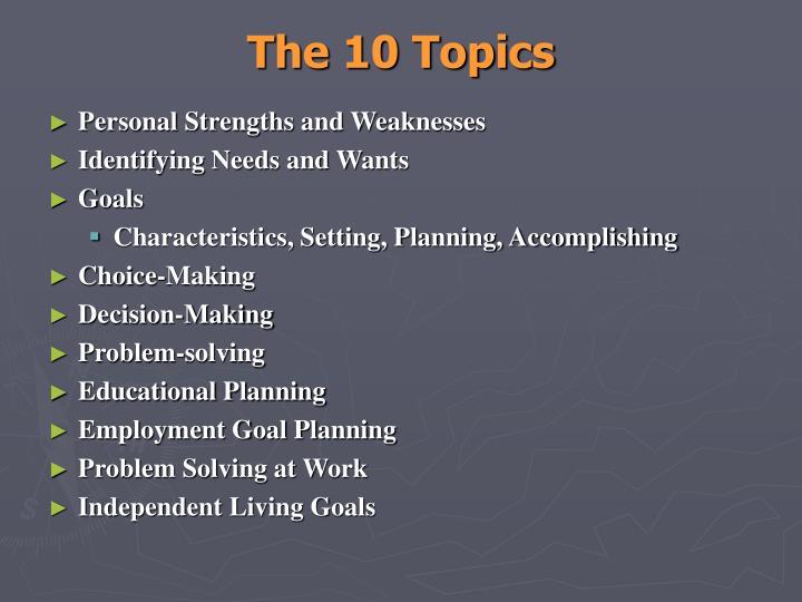 The 10 Topics