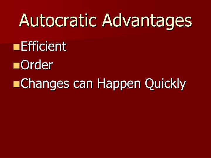 Autocratic Advantages
