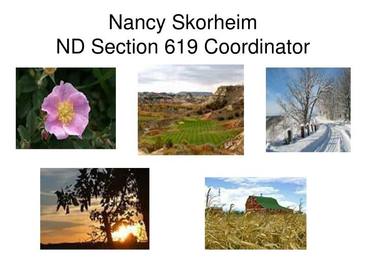Nancy skorheim nd section 619 coordinator