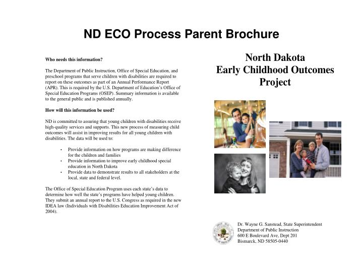 ND ECO Process Parent Brochure
