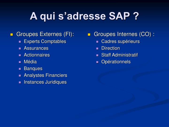 Groupes Externes (FI):