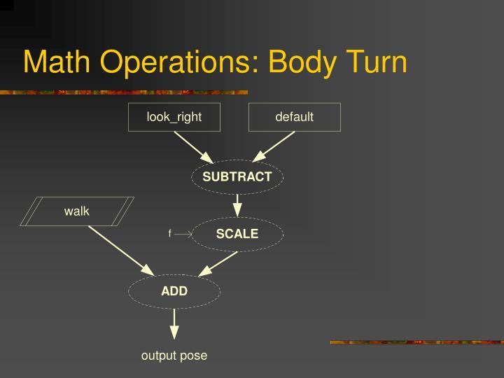Math Operations: Body Turn