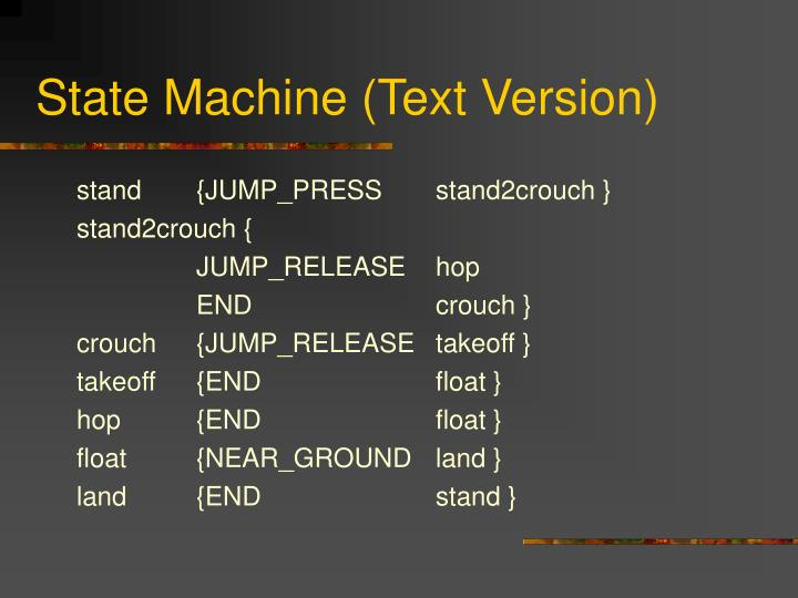 State Machine (Text Version)