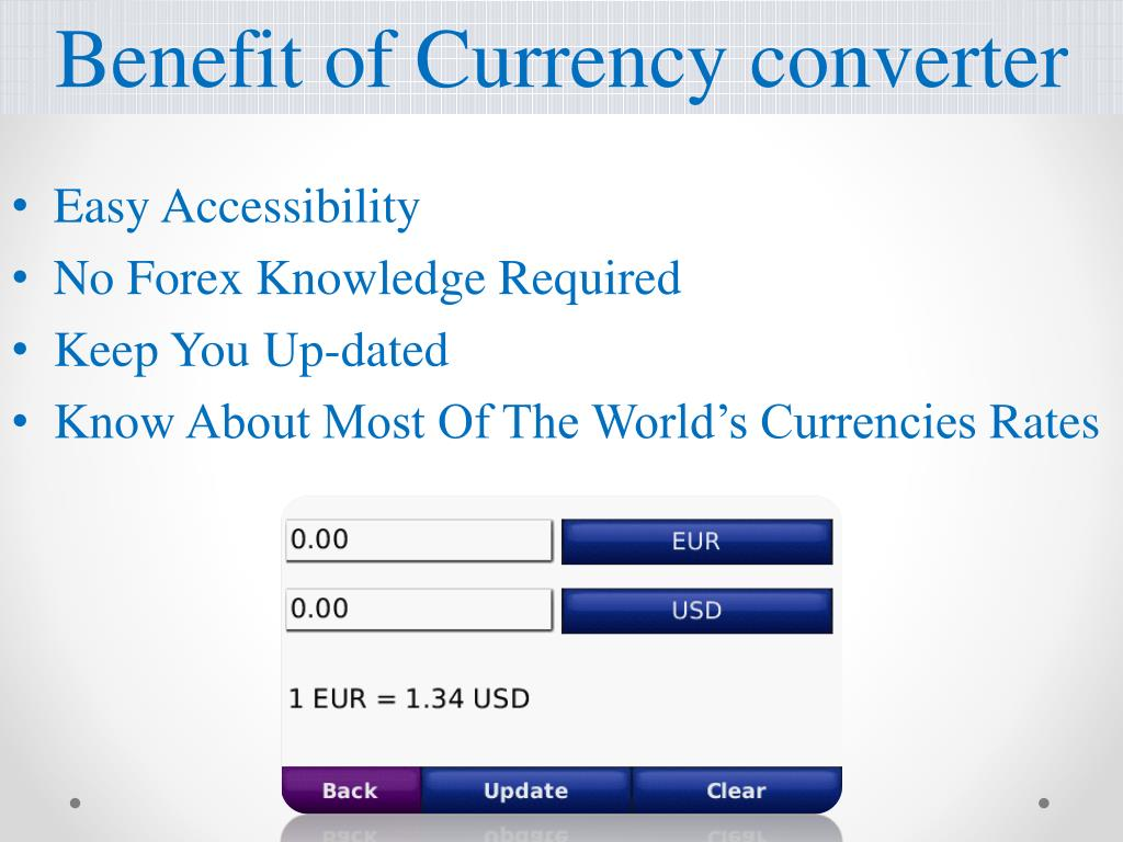 Benefit of Currency converter