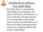 introduction to software vlc media player