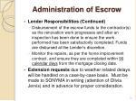 administration of escrow1