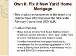 own it fix it new york home mortgage