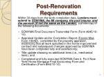 post renovation requirements