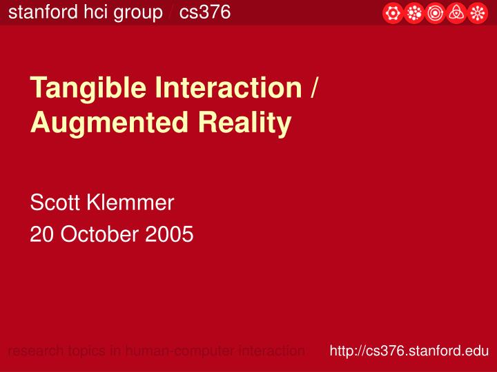 tangible interaction augmented reality n.