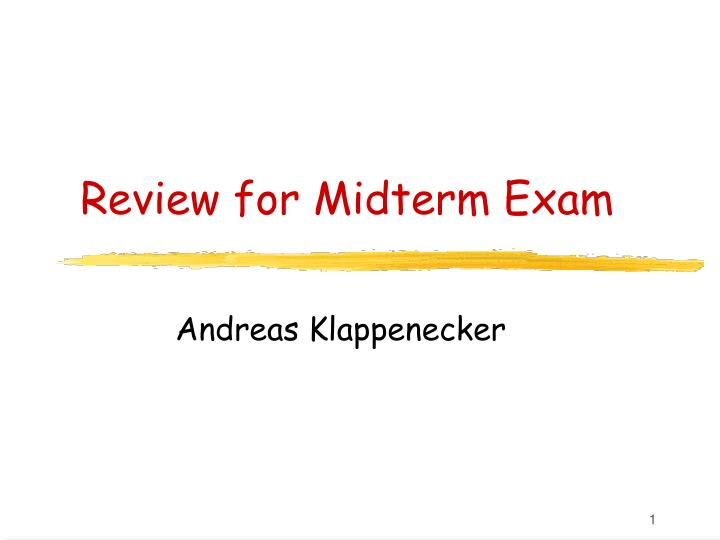 review for midterm exam n.