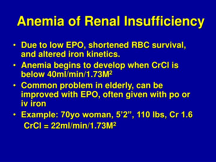 Anemia of Renal Insufficiency