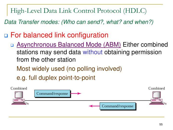 High-Level Data Link Control Protocol (HDLC)