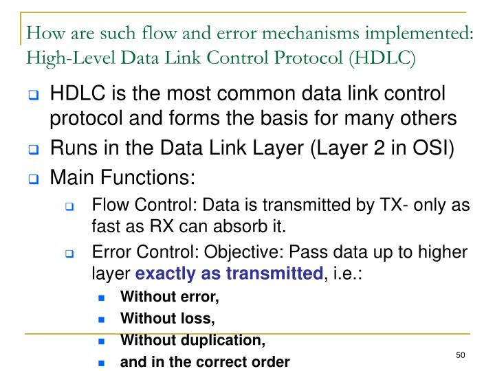 How are such flow and error mechanisms implemented: