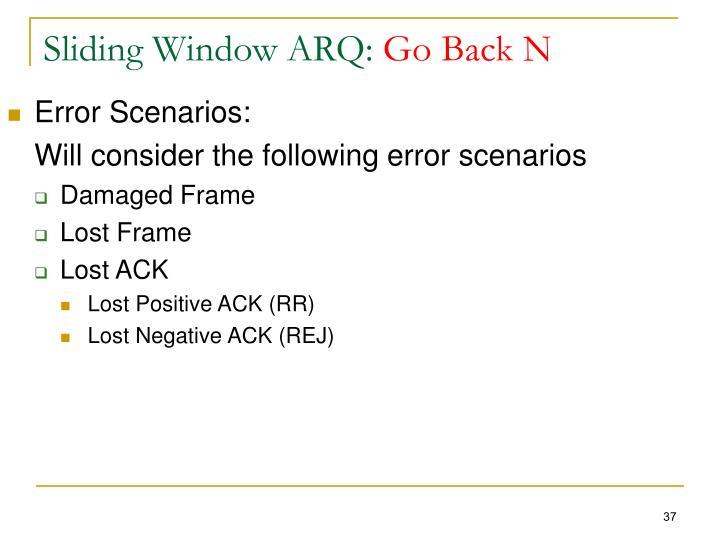 Sliding Window ARQ: