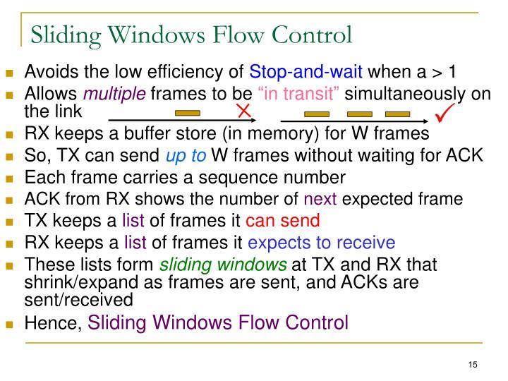Sliding Windows Flow Control