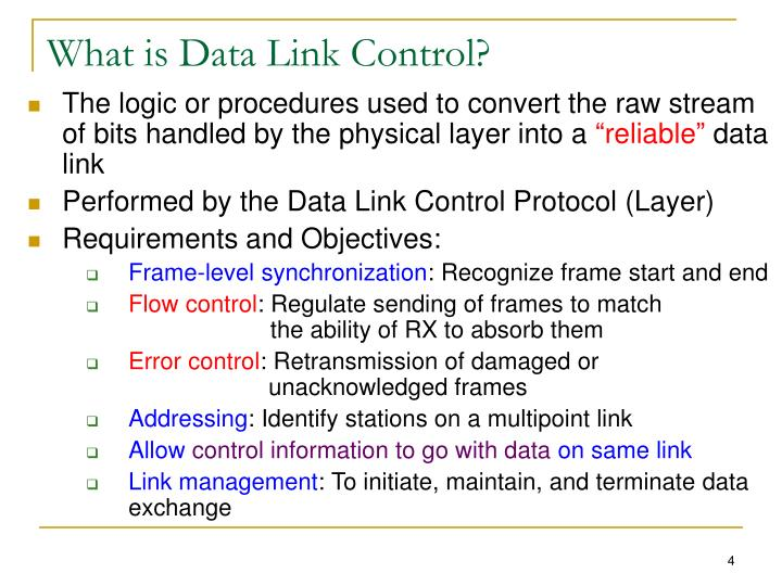 What is Data Link Control?