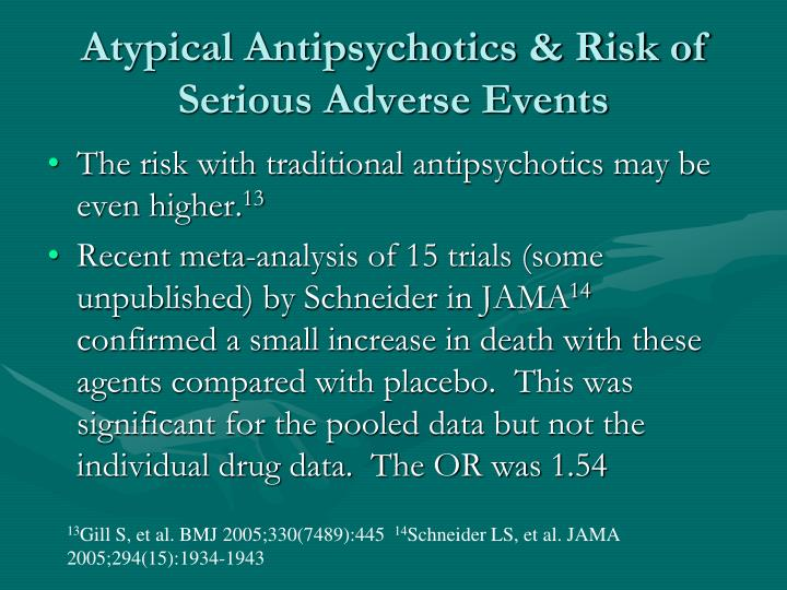 Atypical Antipsychotics & Risk of Serious Adverse Events